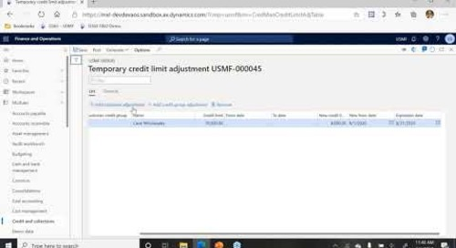 Temporary or Seasonal Credit Limits in Dynamics 365 Finance | Q&A Series | Western Computer