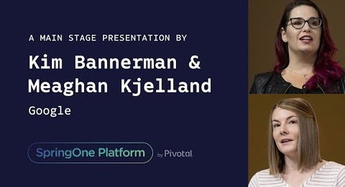Kim Bannerman and Meaghan Kjelland at SpringOne Platform 2017