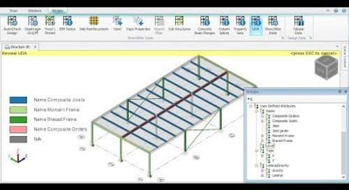 User Defined Attributes in Tekla Structural Designer