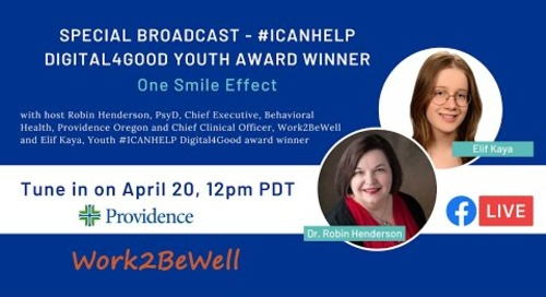 #ICANHELP digital4good Youth Innovation Award Winner: One Smile Effect