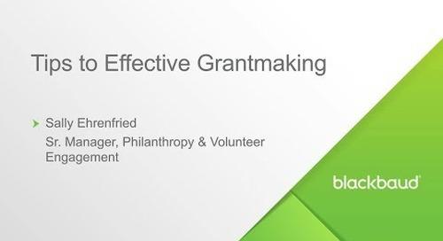 Blackbaud Webinar: Five Tips for Effective Grants Management