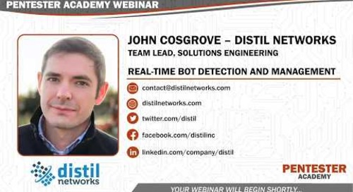 Pentester Academy: Real Time Bot Detection and Management