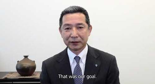 English - YKK achieves sale of 10 billion zippers - Message from Mr. Otani and Mr. Matsushima
