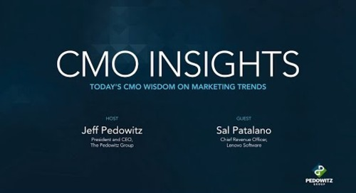 CMO Insights: Sal Patalano, Chief Revenue Officer for Lenovo Software