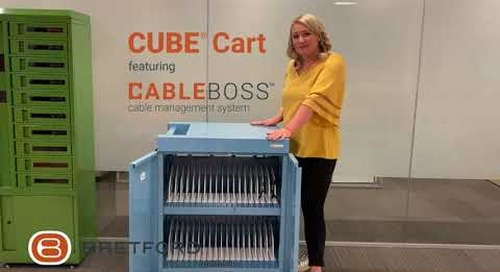 Bretford: CUBE® Charging Cart featuring Cable Boss™ | Cable Management System