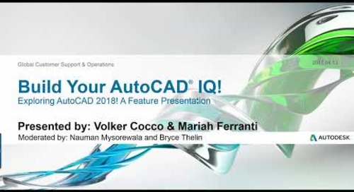 Webinar: New Features in AutoCAD 2018 | AutoCAD