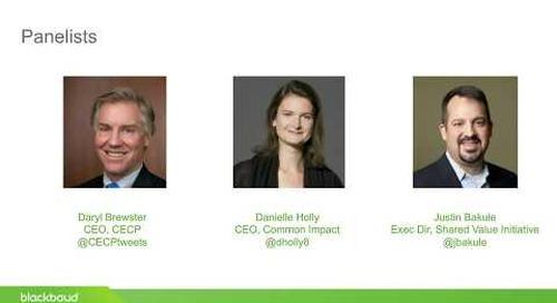 Blackbaud Webinar: CSR 2020: Experts Look Ahead
