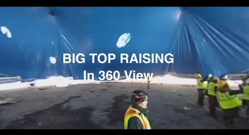 Big Top Raising in 360 View