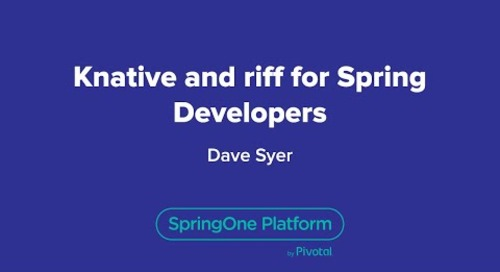 Knative and riff for Spring Developers