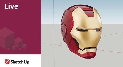 Modeling Iron Man's Helmet to 3D Print