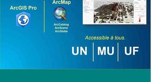 Se familiariser avec ArcGIS Pro