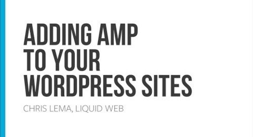 Adding AMP to your WordPress sites
