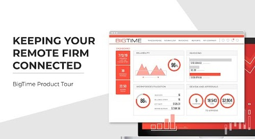Keeping Your Remote Firm Connected | BigTime Product Tour