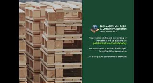 Outdoor Storage of Wooden Pallets  Are You in Compliance With New Fire Codes