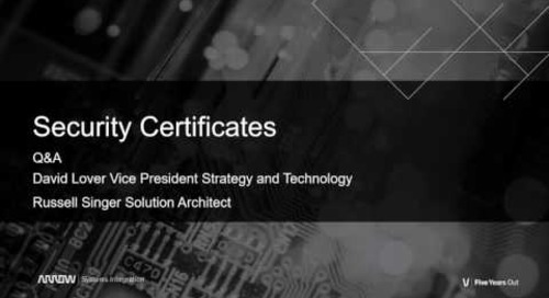 TLS Security Certificates - Questions and Answers