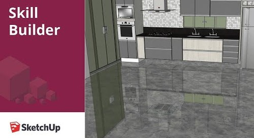 [Skill Builder] How to create a floor reflection in SketchUp