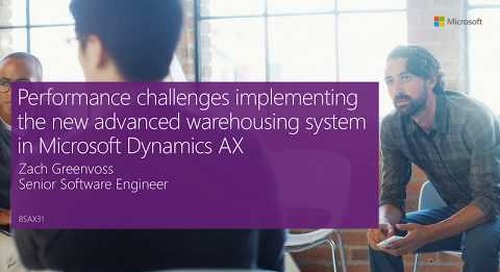 2016 Tech Conf - Lessons learned in implementing the advanced warehousing system
