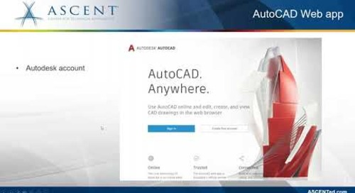 Sharing drawings between AutoCAD 2022 and the AutoCAD web app