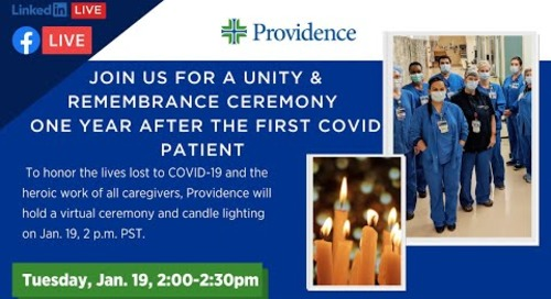 Providence COVID-19 Unity & Remembrance Ceremony