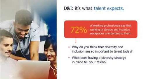 diversity & inclusion at work: it's what talent expects | Talent Navigator webinar.