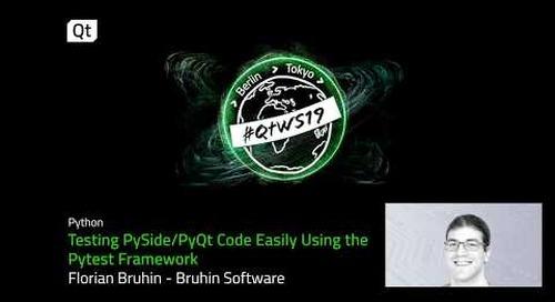 Qt and Python; code easily using the Pytest framework
