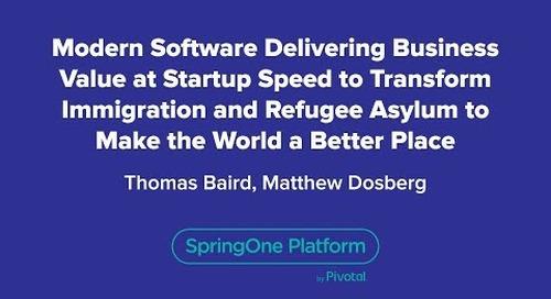 Modern Software Delivering Business Value at Startup Speed