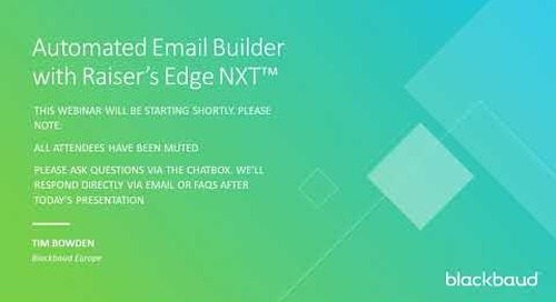 Automated Emails with Raiser's Edge NXT