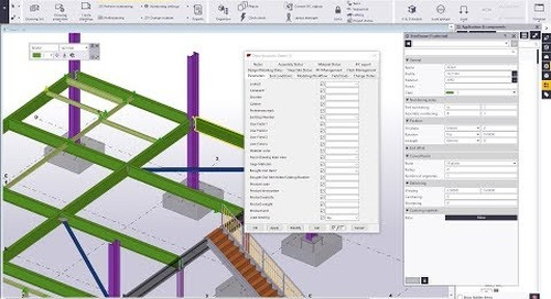 User Defined Attribute Switches and Worfklows in Tekla Structures