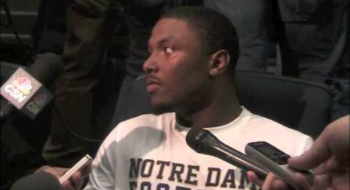 Oct. 15, 2014 — Notre Dame RB Tarean Folston discusses the Florida State matchup