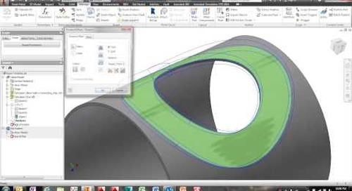 Creating a Template Pipe Fitting Repad Using Autodesk Inventor