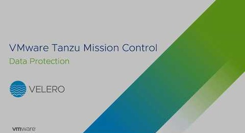 Data Protection on Tanzu Mission Control