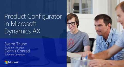 2016 Tech conference - Product Configurator in Microsoft Dynamics AX