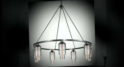 Niche Modern Chandeliers with Handmade Glass Shades