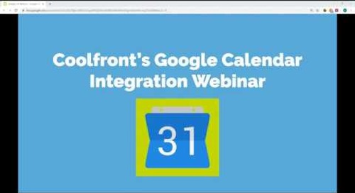 Google Calendar and Coolfront Integration Instructions