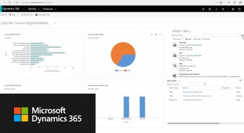Getting around in the Dynamics 365 for Customer Service app