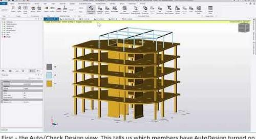 Tekla Structural Designer 2020 - Quick start 3 - Steel design and reviewing model