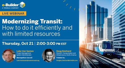 Modernizing Transit  How to do it efficiently and with limited resources