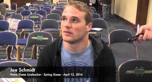 Joe Schmidt Talks After Notre Dame Spring Game