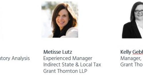 Sales and Use Tax Trends 2018 – A Shifting Landscape Webinar Recap