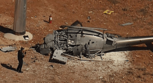 Fatal helicopter crash at mine site