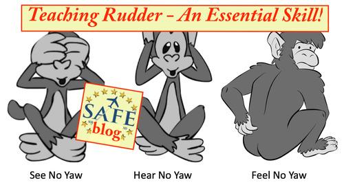 Teaching Accurate Rudder Usage!