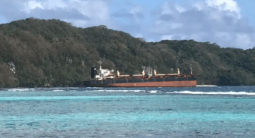 Environmental damage  | Solomon Islands bauxite ship runs aground on coral reef