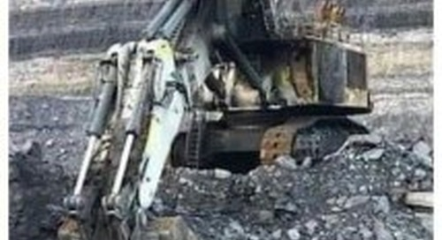 Excavator fire following return from service