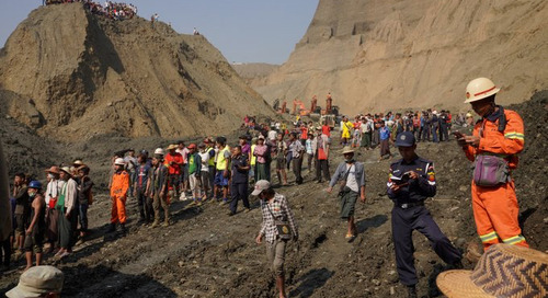 50 believed to be dead in Myanmar mine mudslide