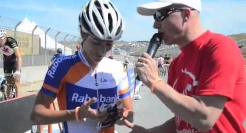 Marianne Vos and Geoff Kabush on their wins in short track at Sea Otter 2013