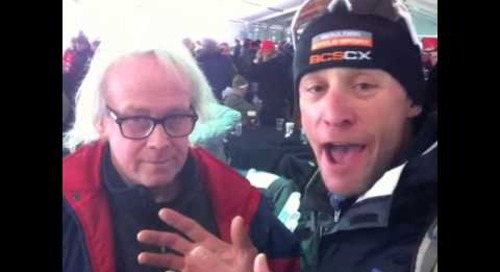 Brian Worthy with Pete Webber at Cyclocross World Championships Louisville 2013