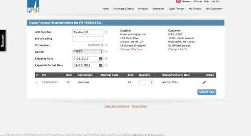 Demo Video: Taulia Advanced Shipping Notice