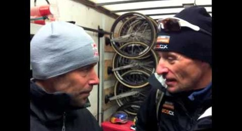 Tim Johnson talks with Pete Webber about his race at 2013 Elite Men's Cyclocross World Championships