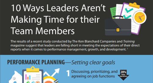 10 Ways Leaders Aren't Making Time for their Team Members (Infographic)