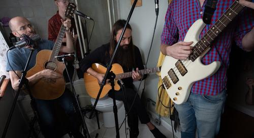 Video Premiere: Alec Hutson's Tiny Bathroom Concert